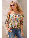Floral Vine Embroidered Top Photo