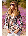 Feathered Floral Top Photo