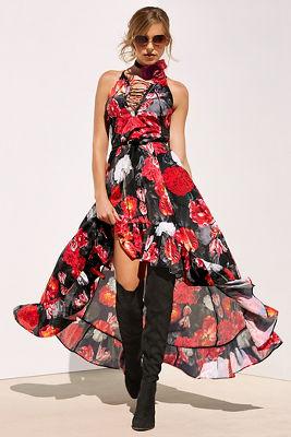 Midnight blooms maxi dress