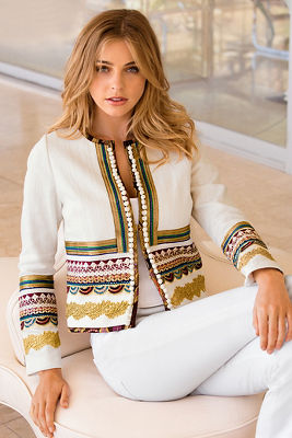 Embroidered luxe jacket