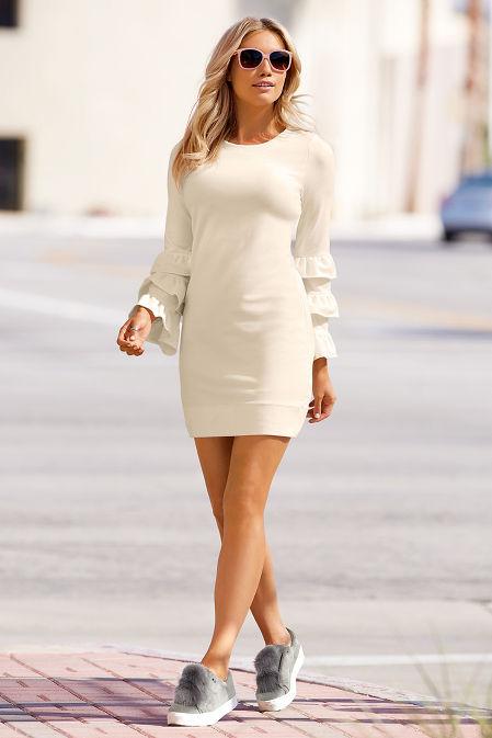 Ruffle sleeve dress image