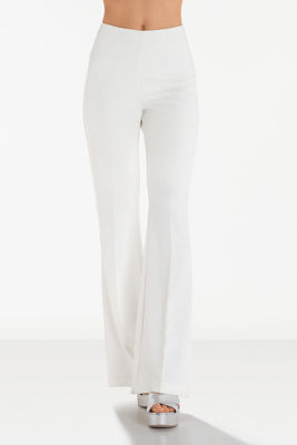 Side zip crepe trouser