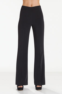 Side zip crepe trouser