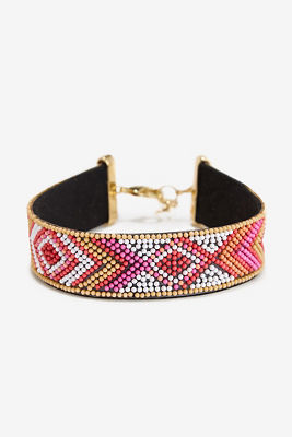 Aztec beaded choker