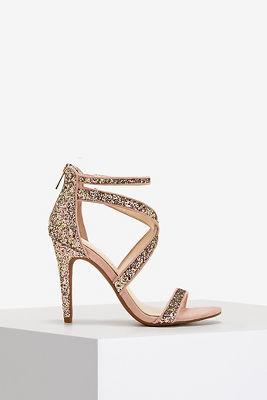 Glitter strappy sandal