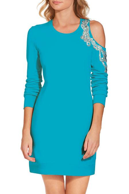 Embellished shoulder dress image
