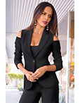 Cold Shoulder Travel Blazer Photo
