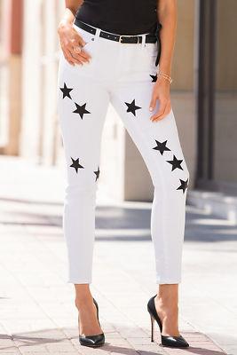Star stamped skinny jean