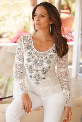 Sparkle lace blouse
