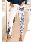 Floral Embellished Swirl Jean Photo