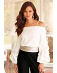 Drama Sleeve Off-the-shoulder Top Photo
