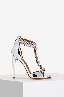 metallic bauble sandal