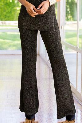 Metallic sweater pant