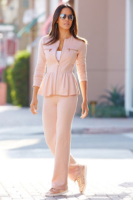 Peplum warm-up set