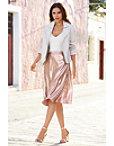 Pleated Metallic Skirt Photo