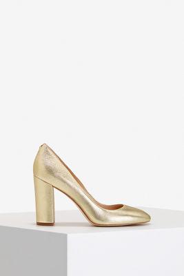 Gold metallic pump
