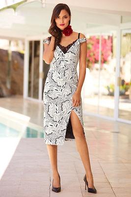 Textured floral dress