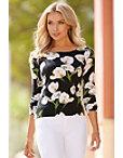 Tulip Printed Sweater Photo