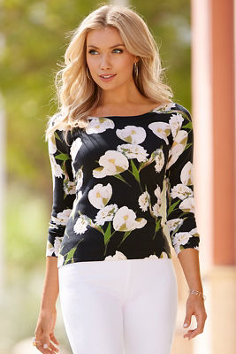 Tulip printed sweater