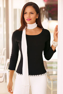 Pearl detailed sweater