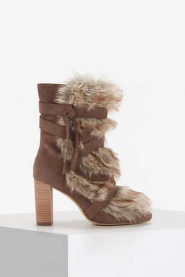 Faux-fur boot