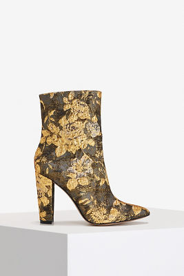 Metallic Brocade Bootie