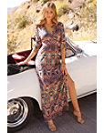 V-neck Printed Maxi Dress Photo