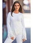 Flirty Lace Pleated Sweater Photo