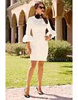 Flare Cuff Sleeve Dress Photo