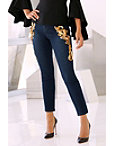 Gold Embellished Leg Jean Photo