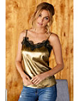 Gold Metallic Lace Cami Photo