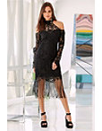 Cold Shoulder Chunky Lace Dress Photo