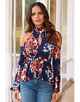 Keyhole Floral Top Photo