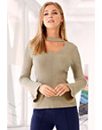 Keyhole Metallic Sweater Photo