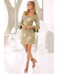 Metallic Tiered-sleeve Dress Photo