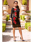 Rose Embroidered Lace Dress Photo