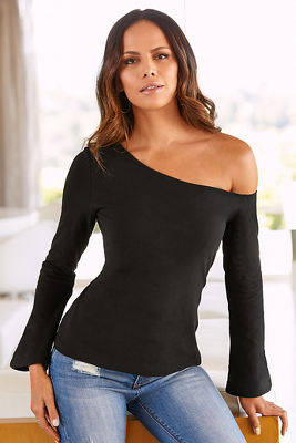 So Sexy&#8482 one-shoulder long sleeve top