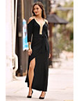 Travel Keyhole Cold-shoulder Maxi Dress Photo