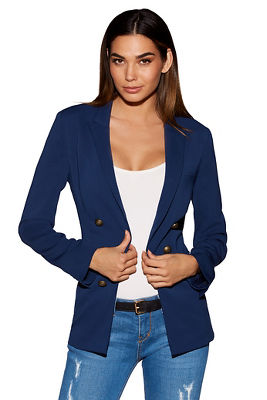 Nautical double-breasted jacket
