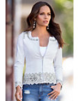 Jeweled Embroidered Denim Jacket Photo