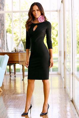 Keyhole sheath dress
