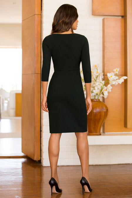 Keyhole sheath dress image