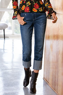Lewis wide cuff pull-on jean