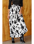 Contrast Pleated Maxi Skirt Photo