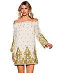Off-the-shoulder Embellished Dress Photo