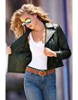 Sleek Leather Moto Jacket Photo