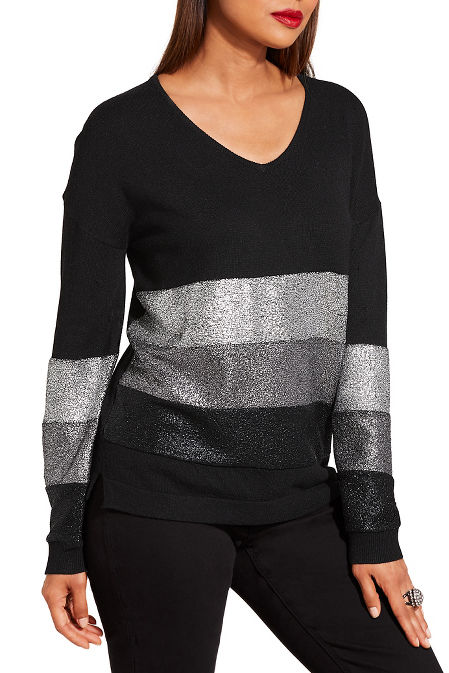 Multi metallic sweater image
