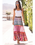 Printed Tassel Maxi Skirt Photo