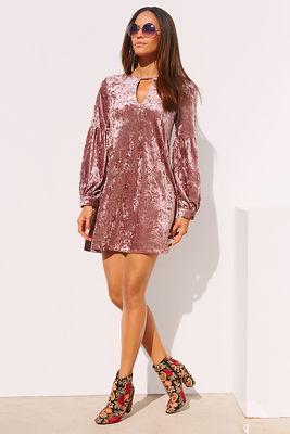 Velvet keyhole dress