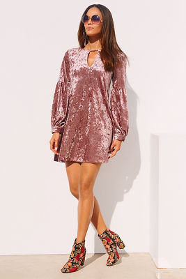 Velvet keyhole dress